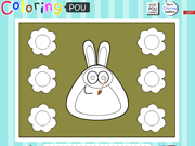 Magic Coloring Pou Rabbit