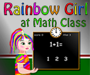 Rainbow Girl at Math Class